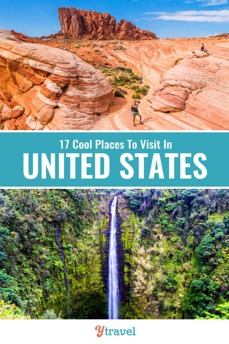 Planning a USA trip? Here are 17 cool USA destinations for your USA travel bucket list that you may not have heard of. Don't take a USA vacation or USA road trip before seeing these USA travel tips!