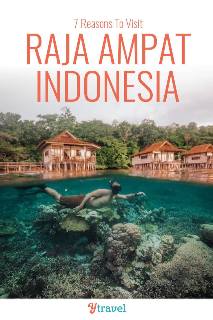 Planning to visit Indonesia? Here are 7 reasons to put Raja Ampat on your Indonesia travel plans and your Asia bucket list, including advice on how to get there and tips on where to stay! Don't visit Asia before reading about this Asia destination.