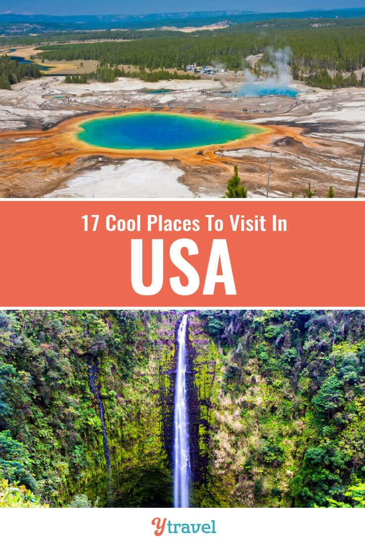 Planning to visit the USA? Here are 17 cool places to visit in the US for your travel bucket list that you may not have heard of. Don't take a USA vacation or USA road trip before seeing these USA travel tips!