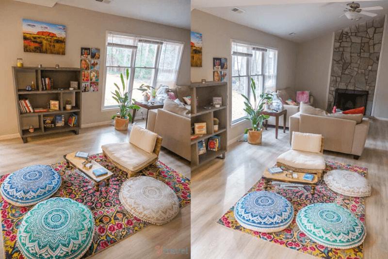 espace de méditation à la maison cool