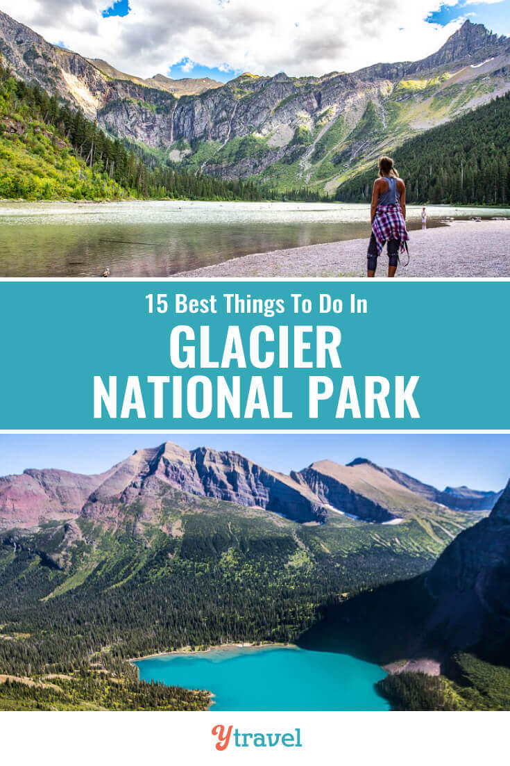 Planning to visit Montana? Glacier NP is incredible. Check out this list of 15 best things to do in Glacier National Park including tips on how to get there, best hikes, best scenic drive, wildlife spotting, and where to stay. | National Parks | Montana Travel | USA Travel | Family Travel | Hiking | National Park | Travel Tips | Vacation | Adventure Travel.
