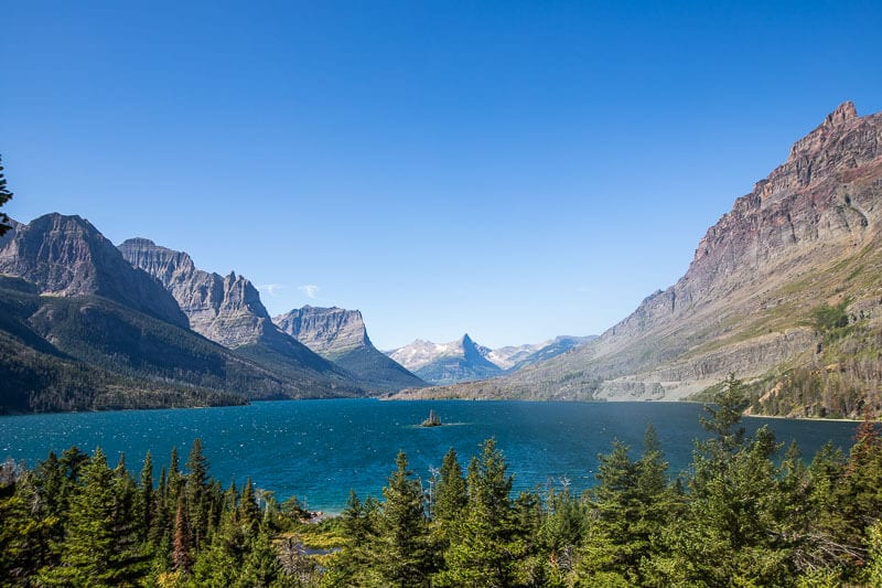 St Mary Lake, Glacier National Park, Montanta