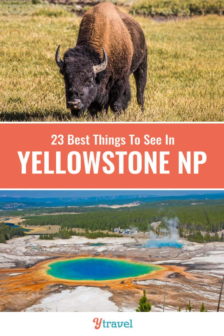 Planning to visit Yellowstone? Here are 23 incredible things to do in Yellowstone National Park including hot springs, geysers, wildlife spotting, hikes, scenic drives and much more. | Wyoming | National Park | USA Travel | Yellowstone Tips | Family Travel | National Parks | Road Trip | Road Trips | Vacation.