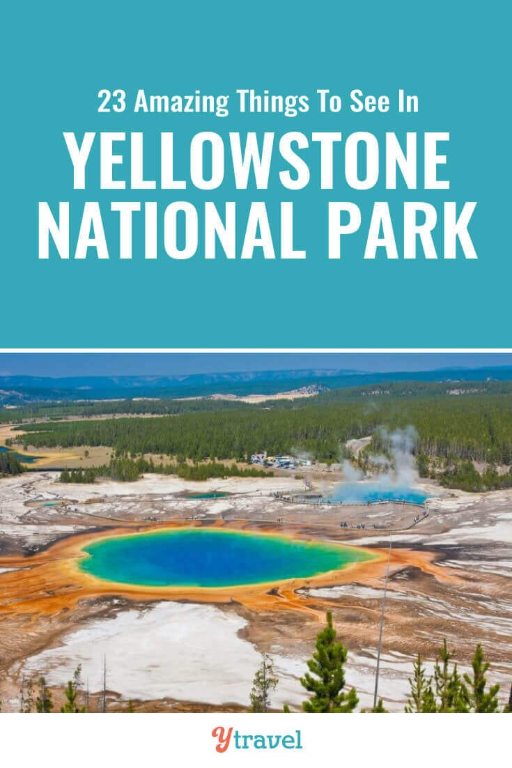 Don't miss these 23 incredible things to do in Yellowstone National Park including hot springs, geysers, wildlife spotting, hikes, scenic drives and much more. | Wyoming | National Park | USA Travel | Yellowstone Tips | Family Travel | National Parks | Road Trip | Road Trips | Vacation.