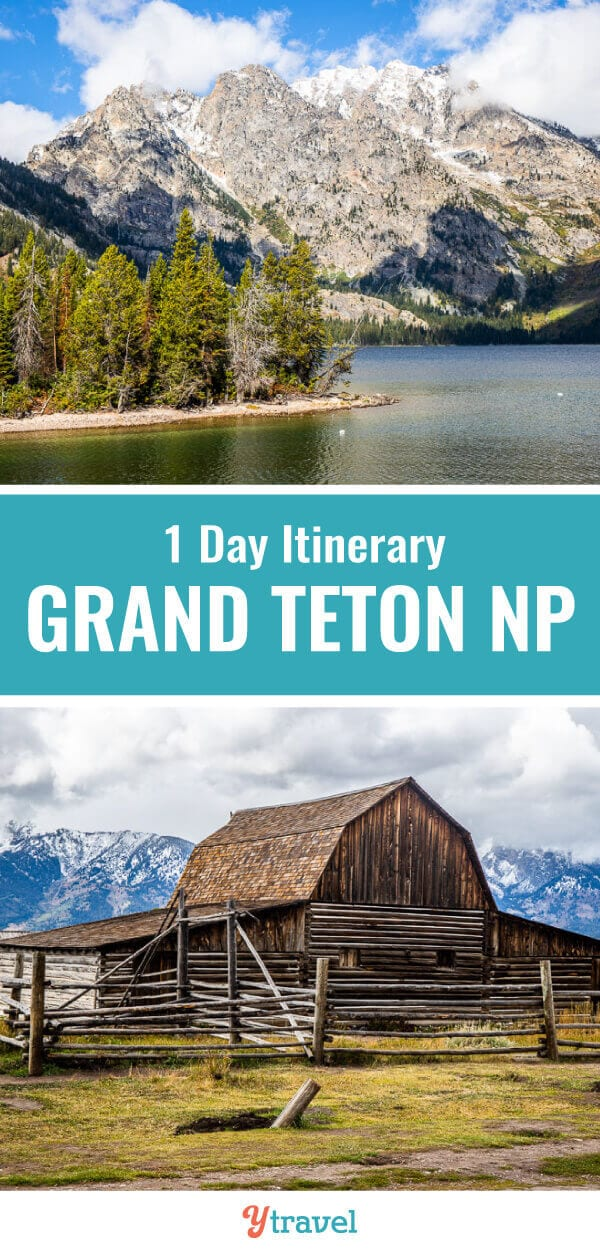 Planning to visit Wyoming? Don't miss the Grand Teton National Park, it's amazing. Check out this 1 day itinerary of the best things to do in Grand Teton National Park including best hikes, wildlife spotting, scenic drives, and where to stay. | Wyoming Travel | USA Travel | Grand Tetons | National Parks | family travel | adventure travel | road trip | road trips.