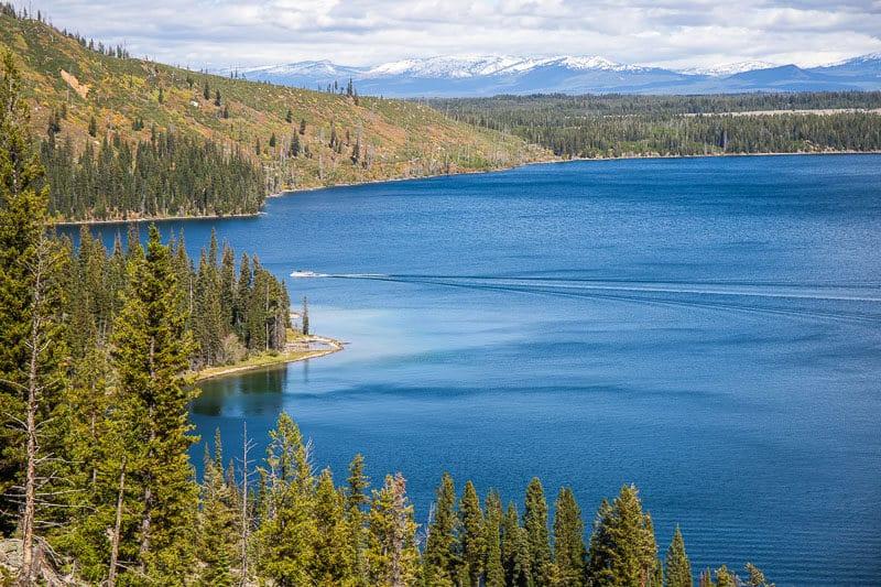 Overlooking Jenny Lake on the Jenny Lake Trail