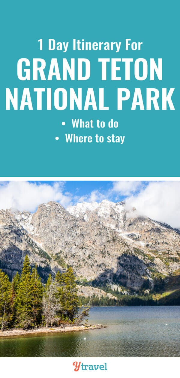 Planning a trip to Wyoming? Check out this 1 day itinerary for the best things to do in Grand Teton National Park including best hikes, wildlife spotting, scenic drives, and where to stay. | Wyoming Travel | USA Travel | Grand Tetons | National Parks | family travel | adventure travel | road trip | road trips.