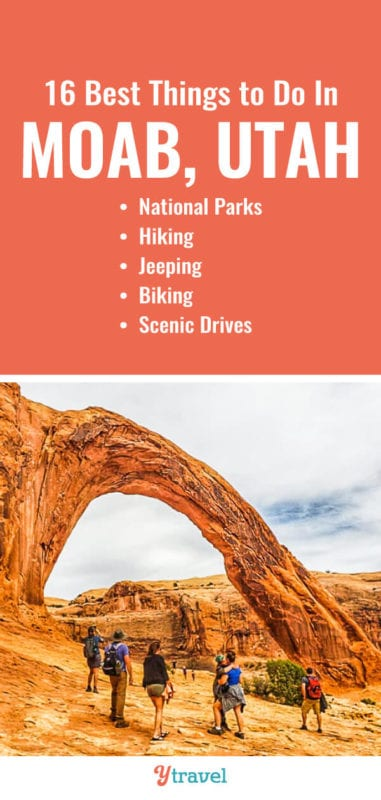 Planning a trip to Moab? Here is a list of the best things to do in Moab including the best hikes, scenic drives, jeep tours, biking and places to stay. | Utah Travel | Moab Utah | Adventure Travel | Travel Tips | Hiking | Jeeps | family travel.