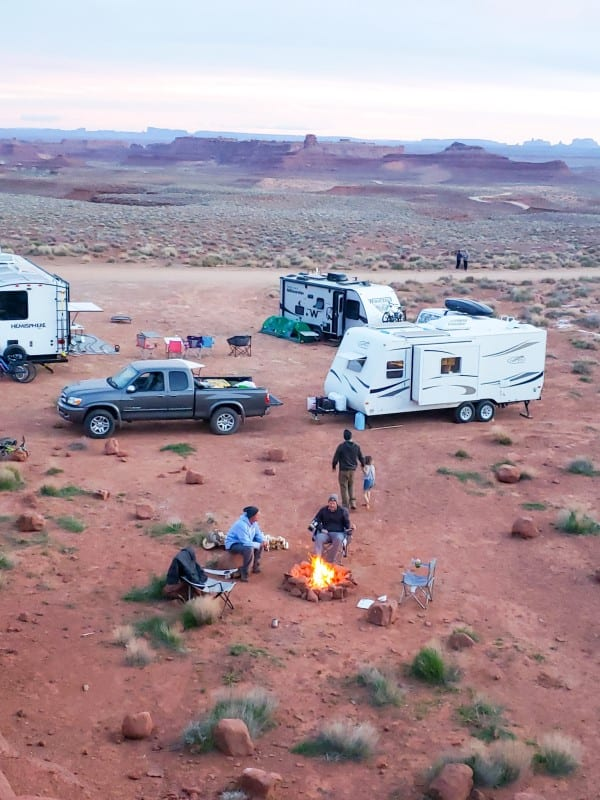 valley of the gods campsite