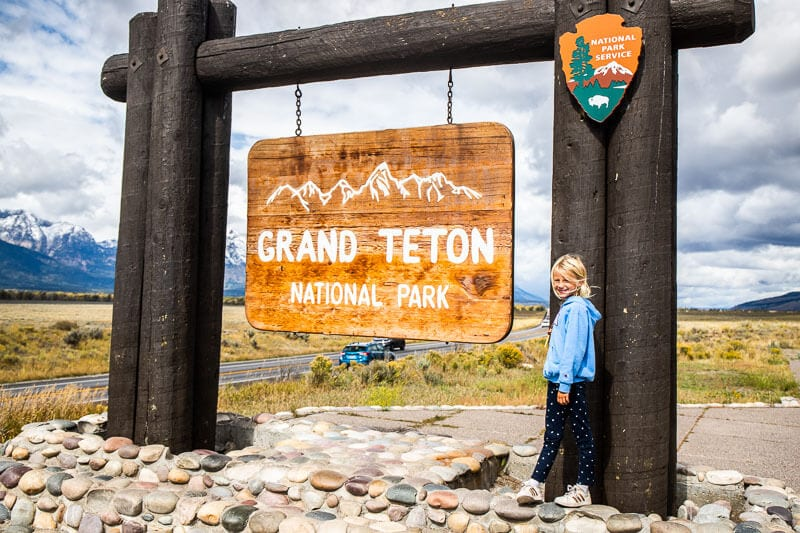 Entrance sign to Grand Tetons National Park