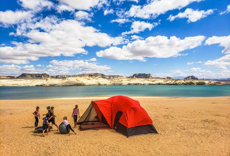 Camping at Lake Powell, Lone Rock Beach Campground