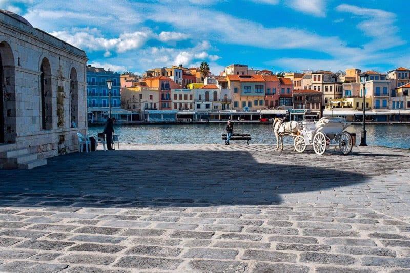 The Venetian port of Chania