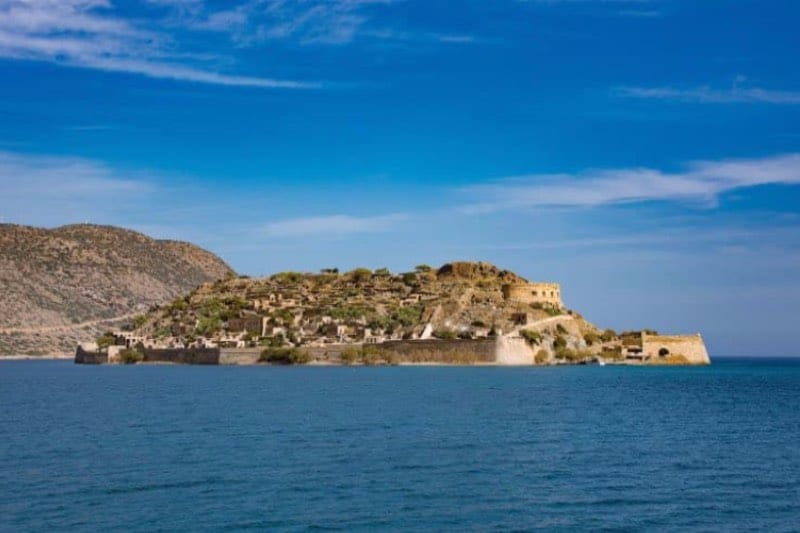 Spinalonga island, former leper colony of Crete