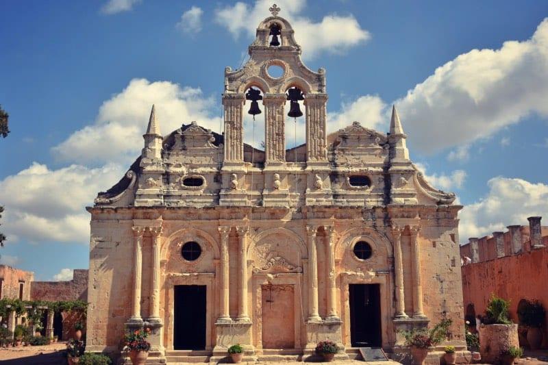 The church of Arkadi Monastery