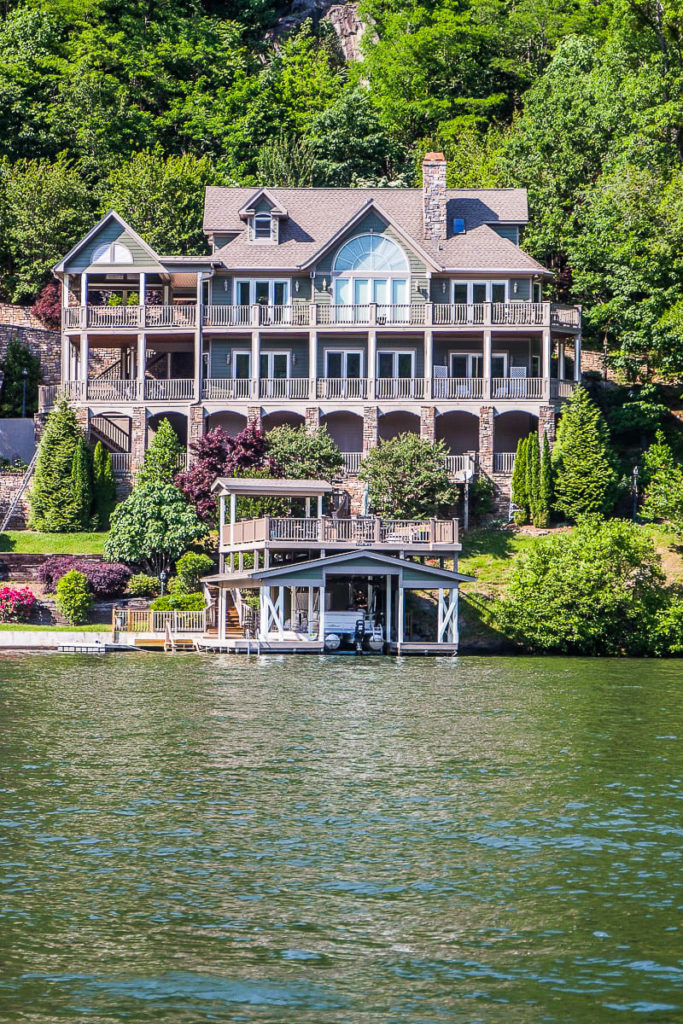 Lake house on Lake Lure, North Carolina