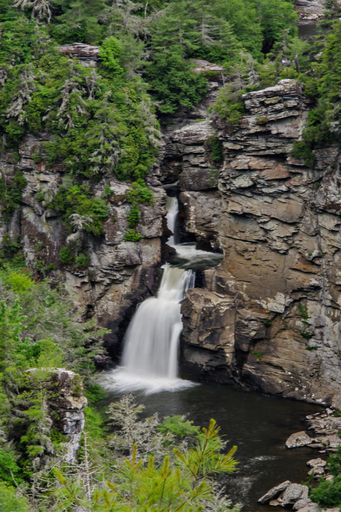 Linville Falls, North Carolina mountains