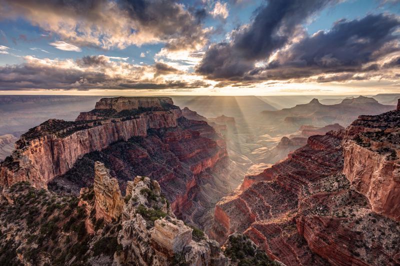 Sunset Cape Royal Grand Canyon north rim