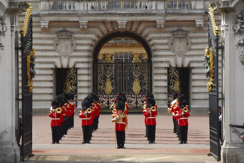 Changing of the Queen's guard - Buckingham Palace, London, England, UK