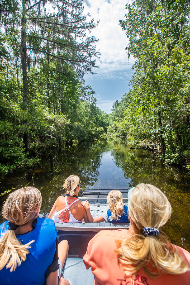 Airboat tour on the Wacissa River, Florida