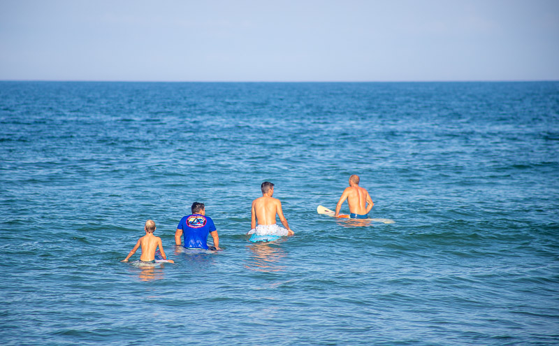 Surfers at Nags Head, Outer Banks