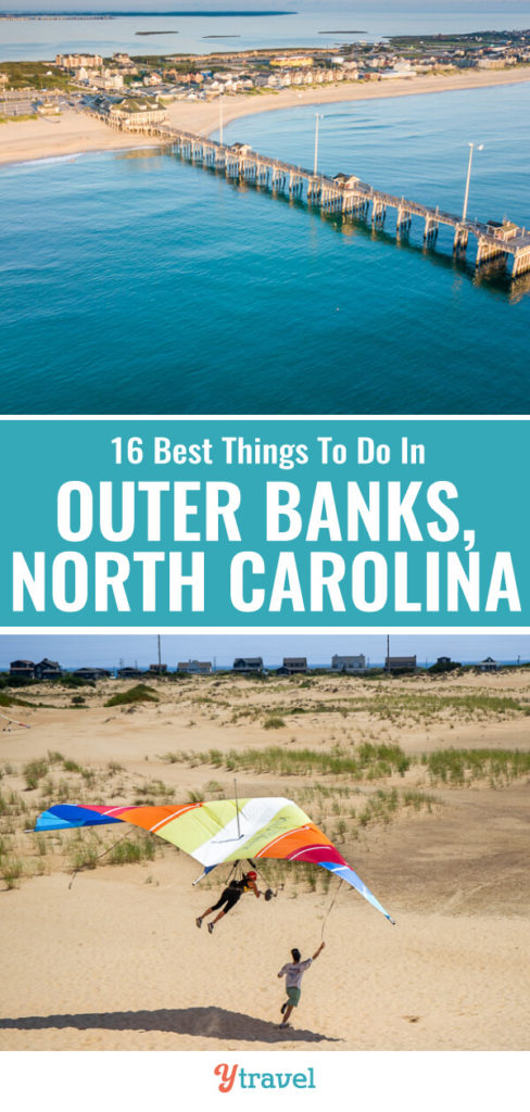 When you visit North Carolina, put the Outer Banks on your North Carolina travel itinerary, it's amazing! Here is a list of 16 fun things to do in the Outer Banks for your next North Carolina vacation.