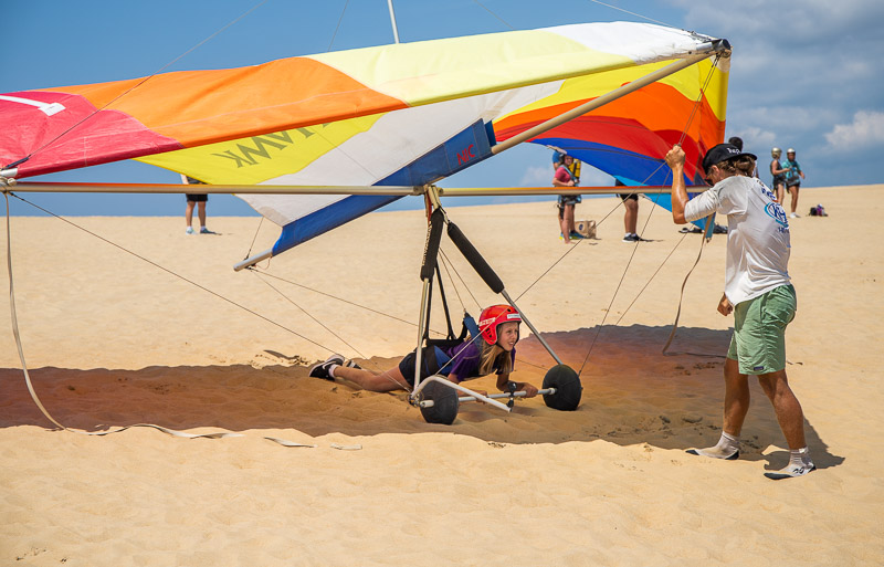 Hang Gliding at Jockey's Ridge State Park, Outer Banks, NC