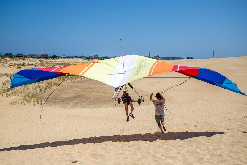 Hang Gliding at Jockey's Ridge State Park, Outer Banks, NC