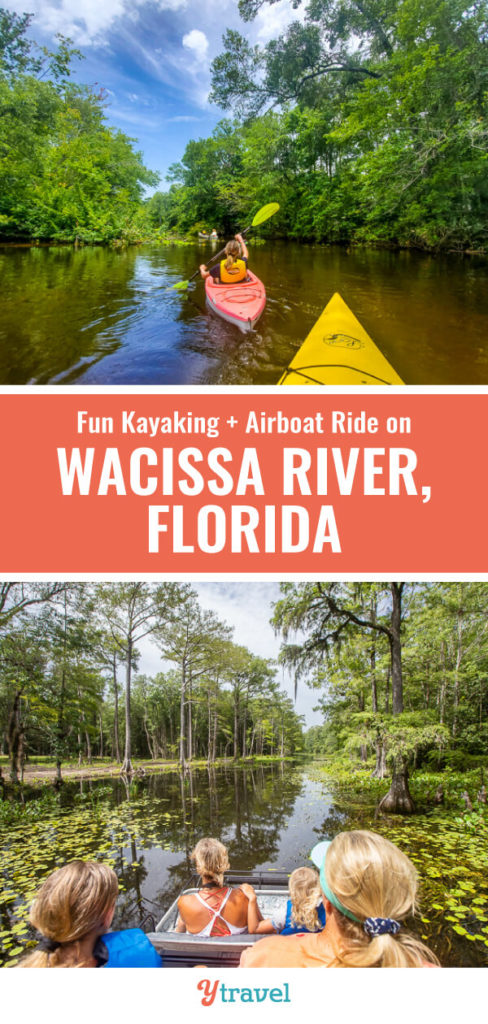 One of the most beautiful places to visit in FLorida is The Wacissa River which offers incredible adventure like kayaking and airboat rides near Tallahassee and Monticello.