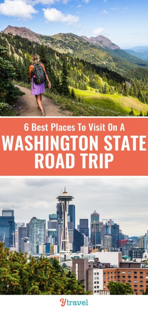Looking for travel tips on Washington State? Check out this guide on 6 amazing places to visit in Washington State on a road trip. Learn about two incredible national parks, cool small towns, and the best things to do in Seattle.
