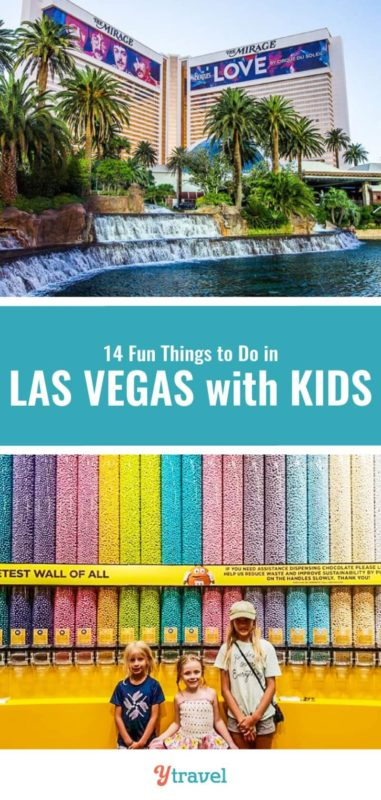 Planning to visit Las Vegas with kids? Check out this list of 14 fun things to do in Las Vegas for kids that us adult's love doing too! Don't take a family Vegas trip before reading this Las Vegas travel guide.
