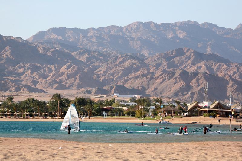 Beach rest. Egypt, Dahab, Sinai Peninsula.