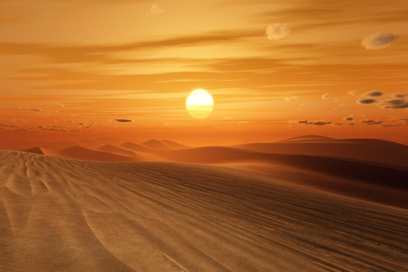 Egyptian desert sunset