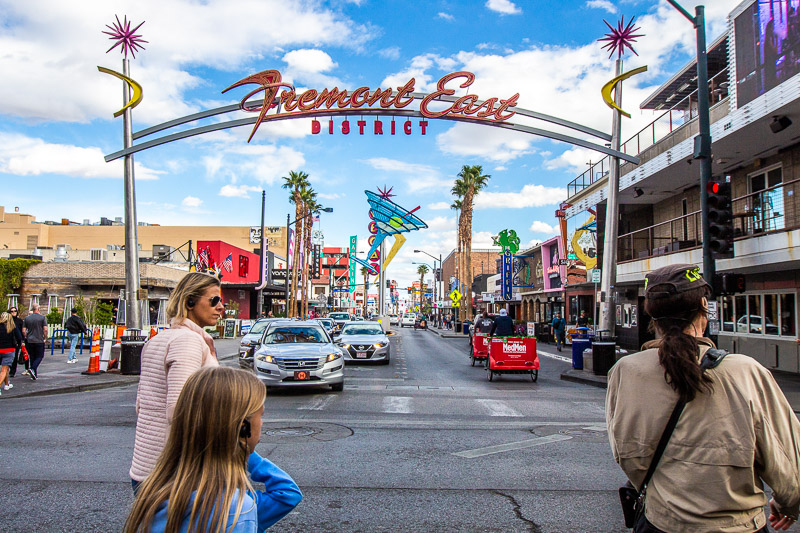 Exploring downtown Las Vegas