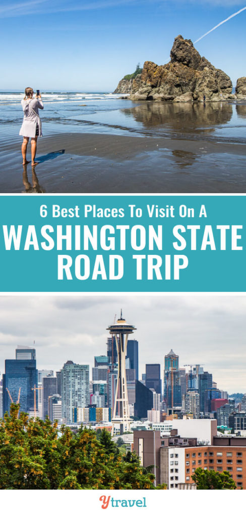 Planning to visit Washington State? Check out this guide on 6 awesome places to visit in Washington State on a road trip. Learn about two incredible national parks, cool small towns and what to do in Seattle.