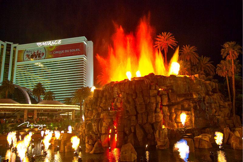 The Mirage Hotel volcano