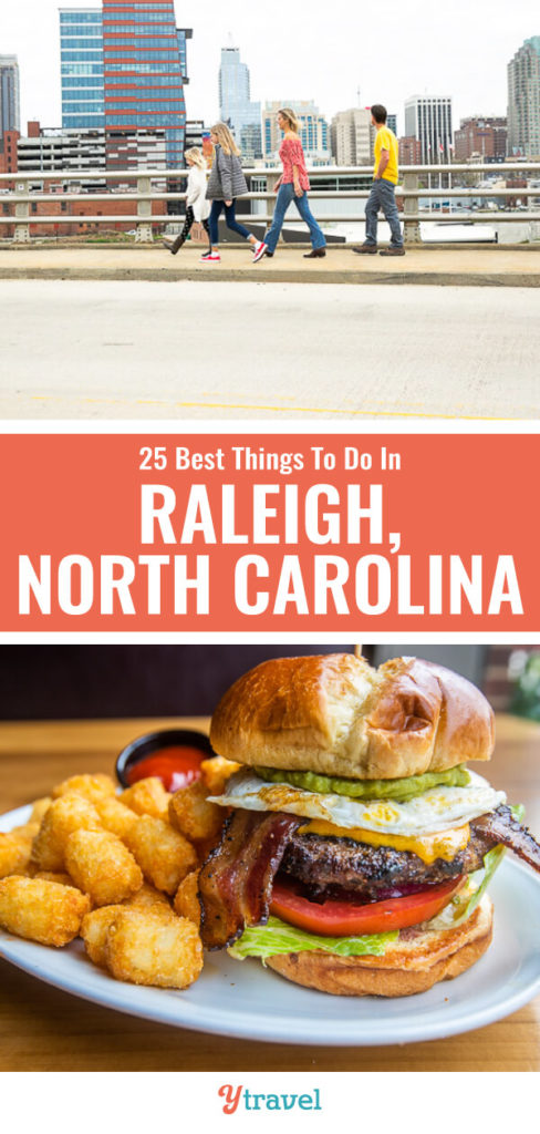 When you visit Raleigh, put this list of 25 things to do in Raleigh NC on your itineray for the best attractions, where to eat and drink, and where to stay. Don't visit North Carolina without coming to the capital city!