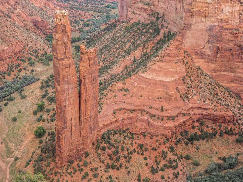 Spider rock in Canyon de Chelly National Monument, Arizona, United States
