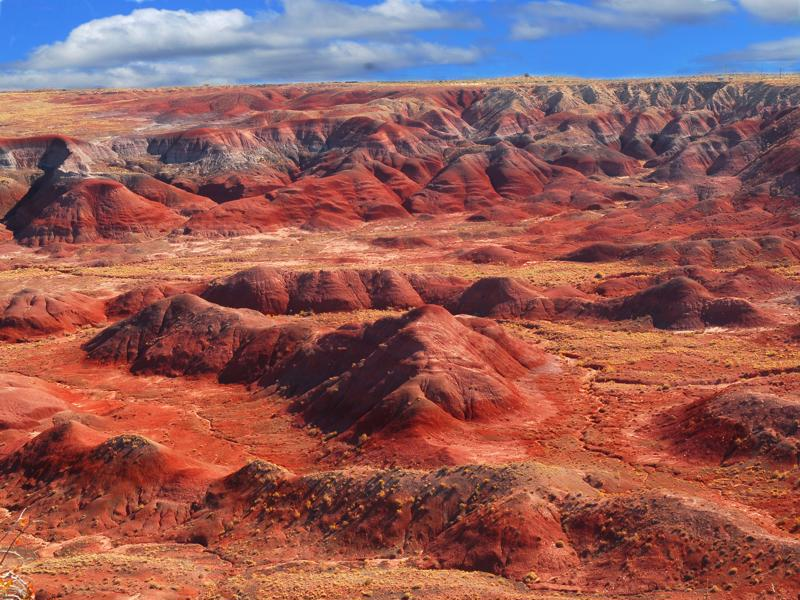 Dramatic view of the Painted Desert National Park in Arizona