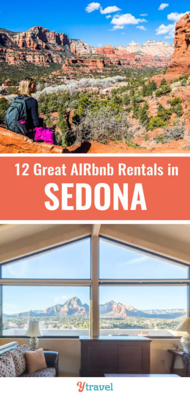 Planning to a trip to Sedona and looking for great Airbnb rentals? Check out this short-list of 12 amazing Airbnb Sedona vacation rentals before you visit Sedona for all budgets.