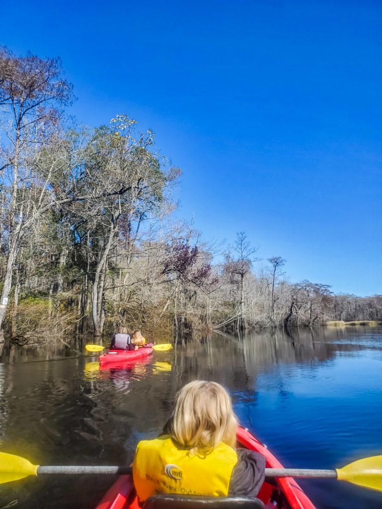 Kayaking on the Waccamaw River near Myrtle Beach