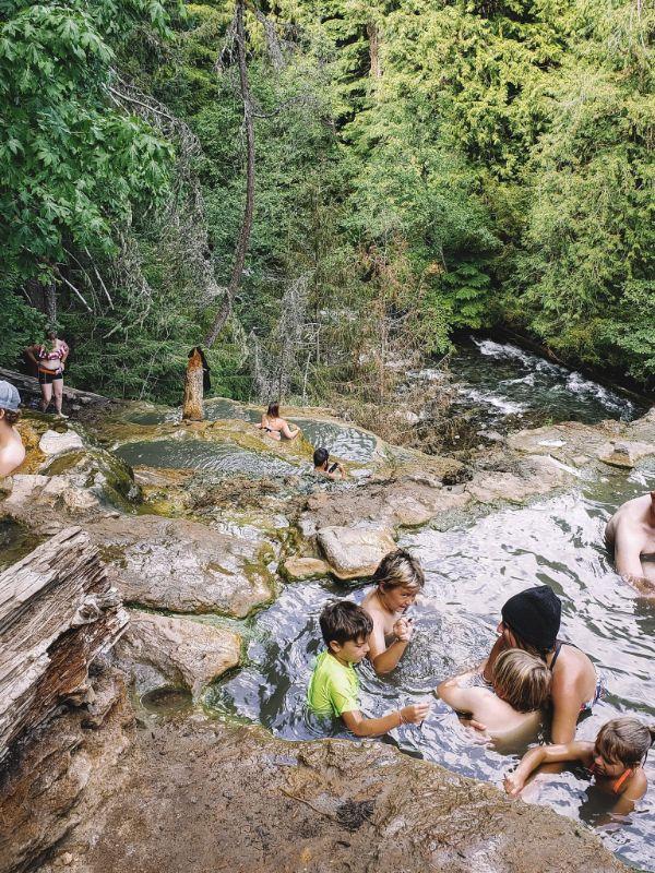 The terraced Umpqua Hot Springs