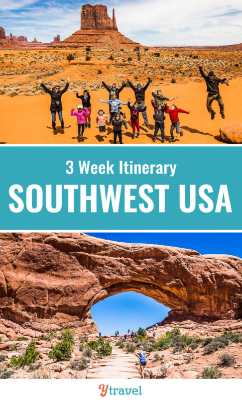 The Southwest region is one of the best USA road trips destinations. Check out this 3 week road trip itinerary which takes you through some amazing USA national parks in Utah, Arizona and starts and ends in Las Vegas. Put the American Southwest on your travel bucket list for your next family vacation!