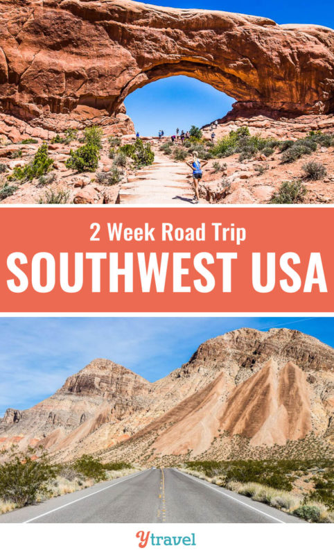 The Southwest USA region is one of the best places in the USA for road trips. Check out this 2 week itineray for a Southwest road trip through the states of Nevada, Utah and Arizona that take in some of the best USA National Parks. Who loves family road trips? Don't miss this region for your next vacation!