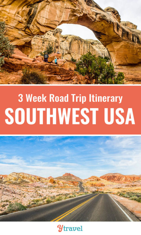 The American Southwest region is one of the best USA road trips destinations. Check out this 3 week road trip itinerary which takes you through amazing USA national parks in Utah, Arizona and starts and ends in Las Vegas. Put the American Southwest on your travel bucket list for your next family vacation!