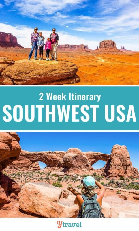 The American Southwest is one of the best destinations for USA road trips. Check out this 2 week itineray through the states of Nevada, Utah and Arizona that take in some of the best USA National Parks. Who loves road trips? Don't miss this.