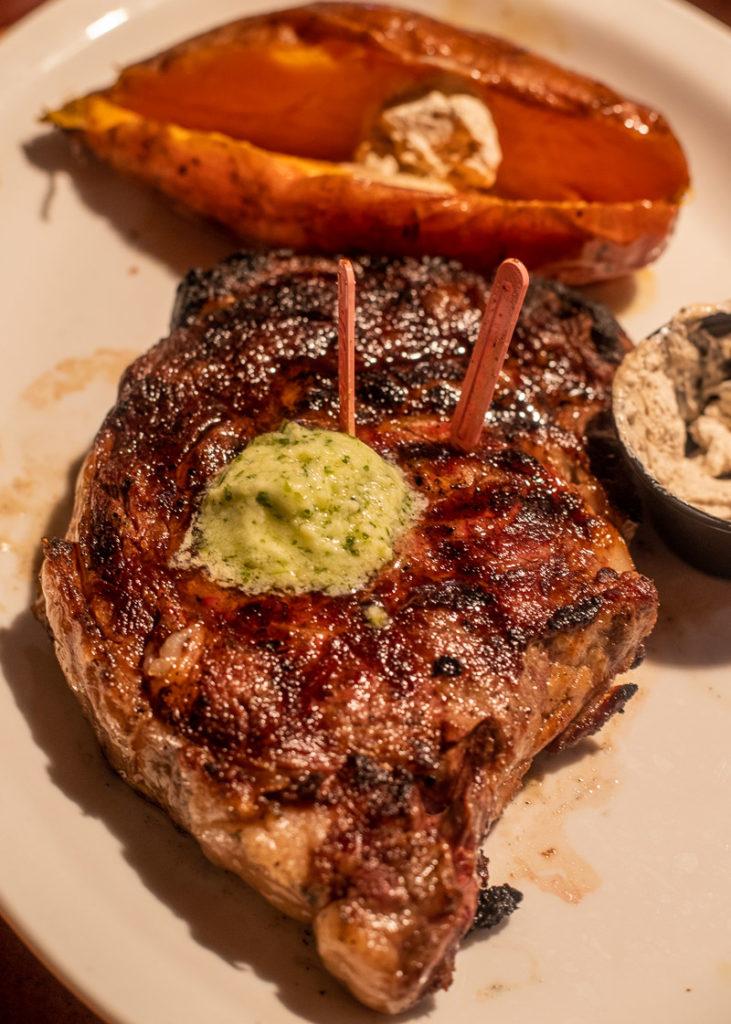Ribeye steak at Cowpoke Bar in Sebring, Florida
