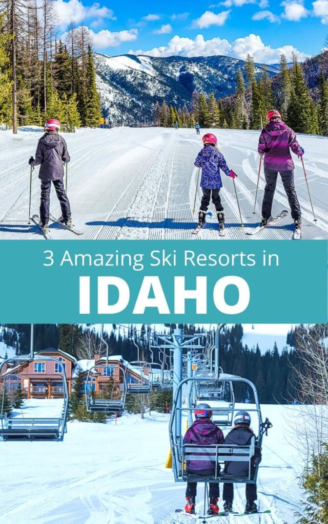 If you are planning an Idaho skiing trip, don't miss these 3 ski resorts in Idaho for great powder, beautiful mountain scenery, and fun towns. These Idaho ski resorts are perfect for families and beginner skiers or expert skiers. When you visit Idaho, put these on your Idaho travel itinerary.
