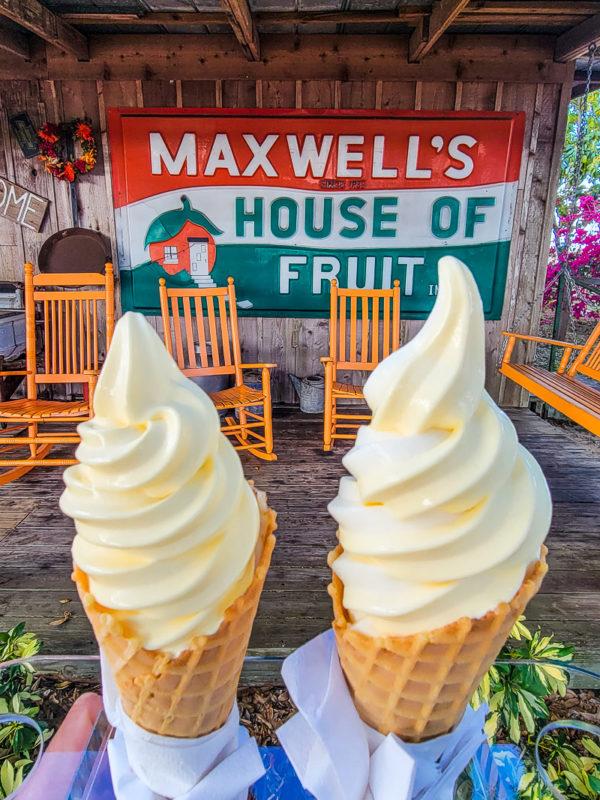 Ice Cream at Maxwell Groves, Avon Park