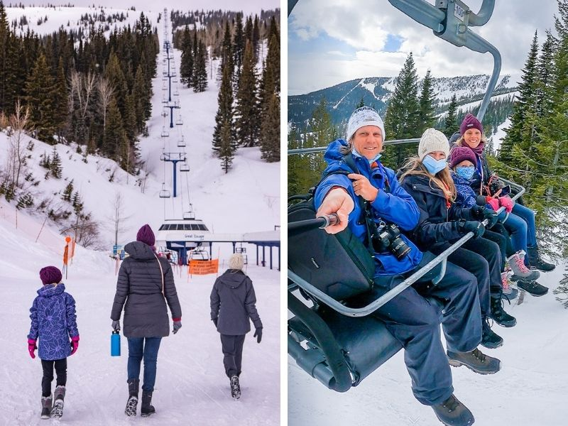 Riding the chairlifts was fun and easy!