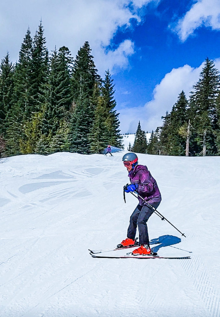 Learning to ski at Schweitzer